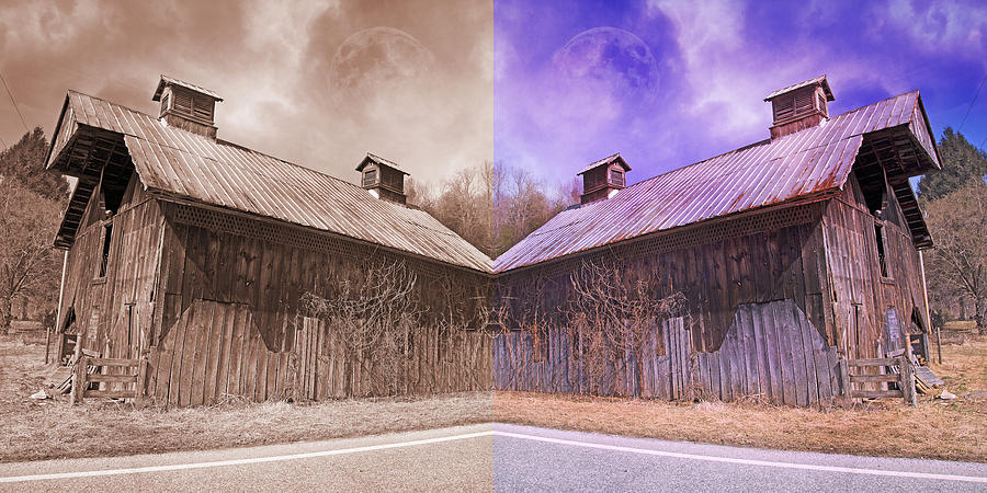 Full Photograph - Pleasant View Country Barns by Betsy Knapp