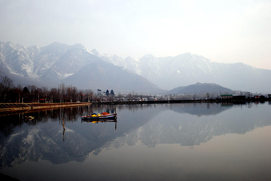 Kashmir Photograph - Pleasant View Of Dal Lake- Kashmir- India- Viators Agonism by Vijinder Singh