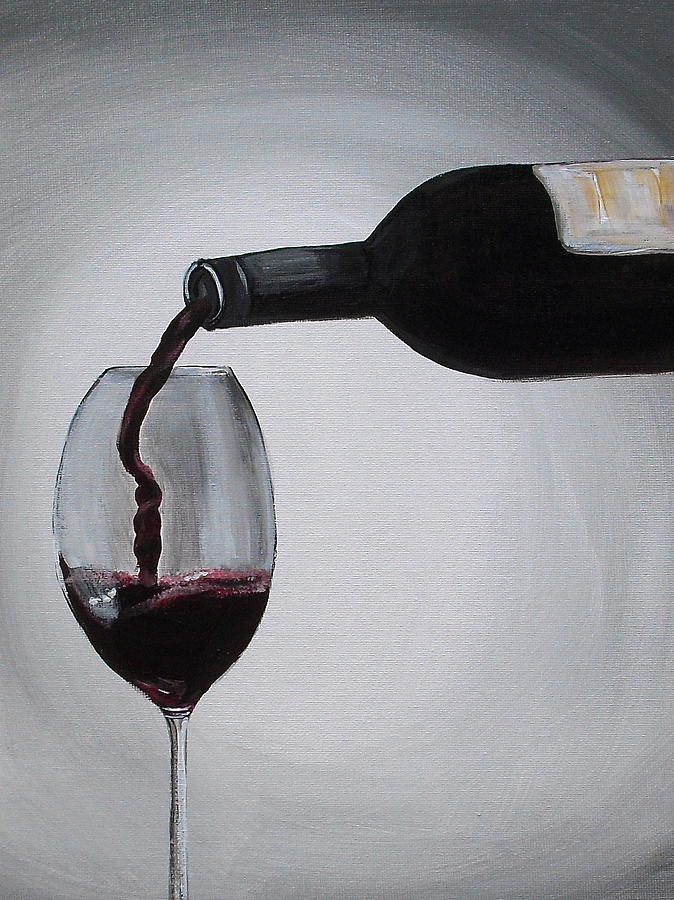 Wine Painting - Pleasure In A Glass by Melissa Torres