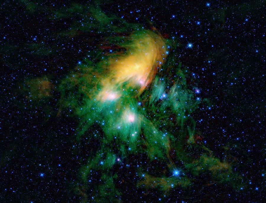 Pleiades Photograph - Pleiades Star Cluster by Nasa/jpl-caltech/ucla/science Photo Library