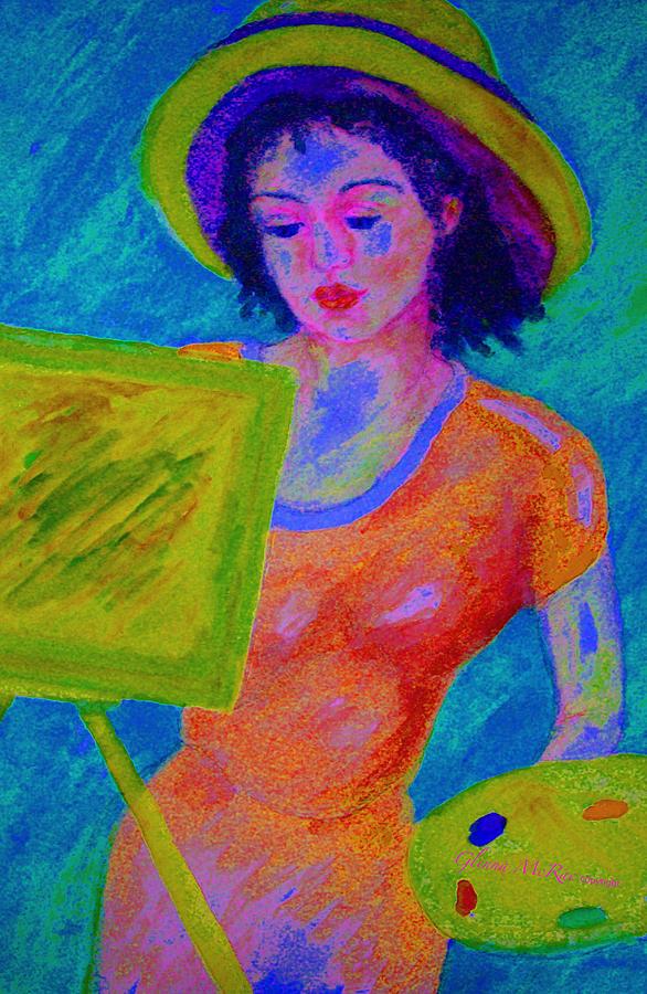 Artist Painting - Plein Air Artist  In The Flow by Glenna McRae