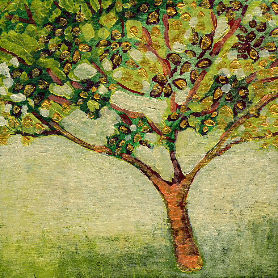 Tree Painting   Plein Air Garden Series No 8 By Jennifer Lommers