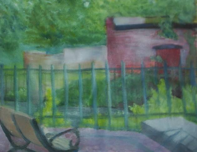 Park Painting - Plein Aire Smithville Park by Sheila Mashaw