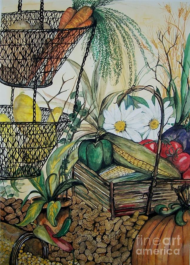 Still Life Painting - Plentiful Harvest by Laneea Tolley