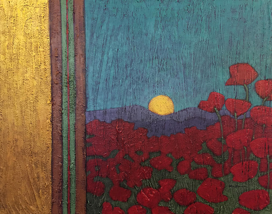 Plentiful Vista with Poppies by Carrie MaKenna