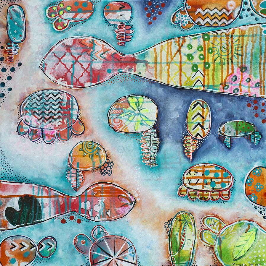 Plenty of fish in the sea painting by rischa heape for Plenty of fish usa