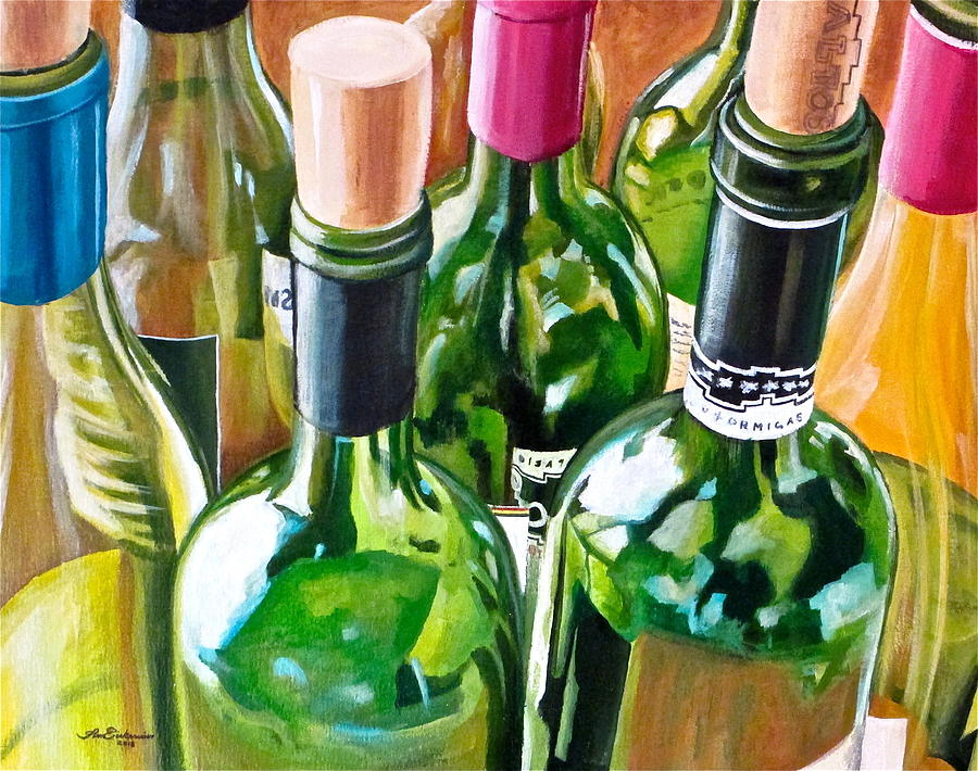 Wine Bottles Painting - Plenty Of Options by Tim Eickmeier
