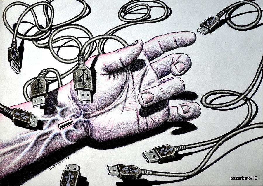 Usb Digital Art - Plug And Play Pnp by Paulo Zerbato