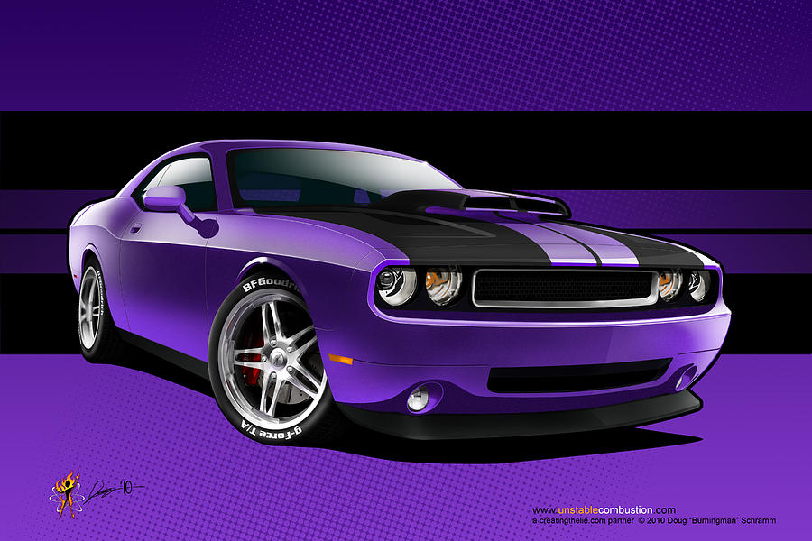Plum Crazy Challenger by Doug Schramm