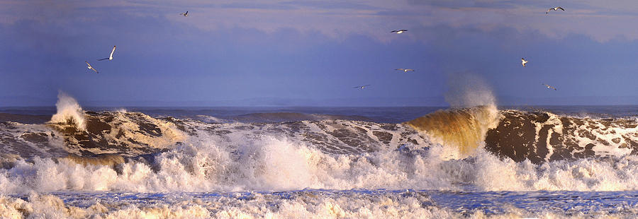 Plum Island Mixed Media - Plum Island Waves by John Brown