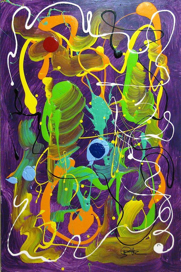 Purple Painting - Plum Wild by Bill Herold