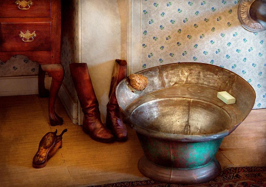 Savad Photograph - Plumber - Bath Day by Mike Savad
