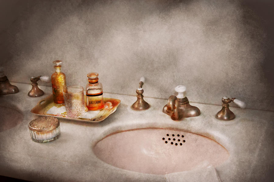Sink Photograph - Plumber - First Thing In The Morning by Mike Savad