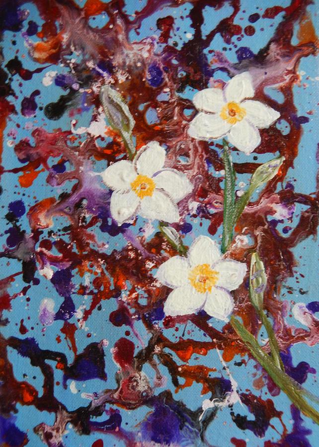 Plumeria Painting - Plumeria Splash by Eliza Donovan