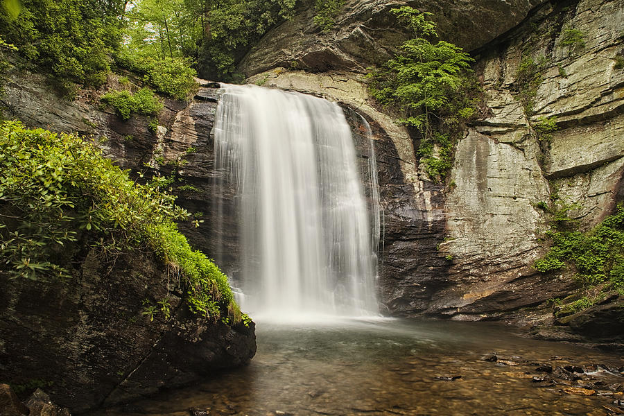 Waterfall Photograph - Plunging Waterfall by Andrew Soundarajan