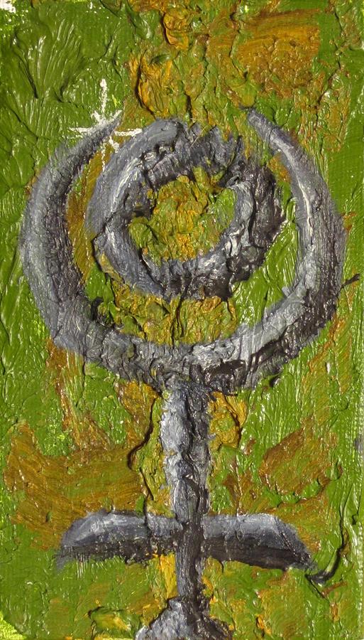 Design Painting - Pluto Glyph by Jeffrey Oleniacz