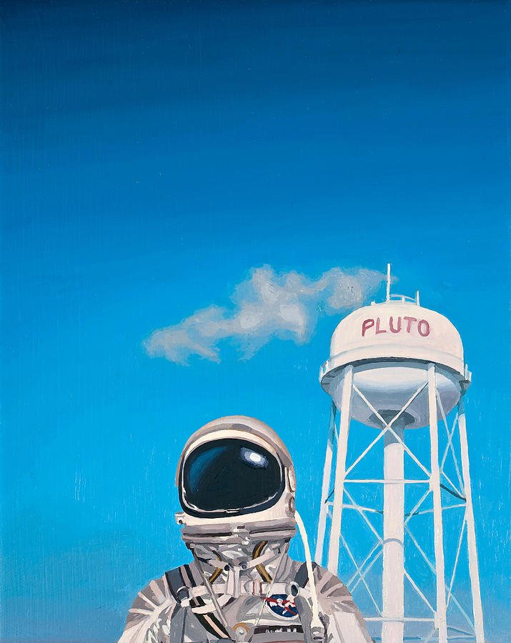 Astronaut Painting - Pluto by Scott Listfield