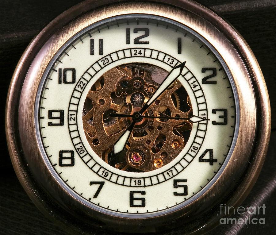 Pocket Watch Photograph - Pocket Watch by John Rizzuto
