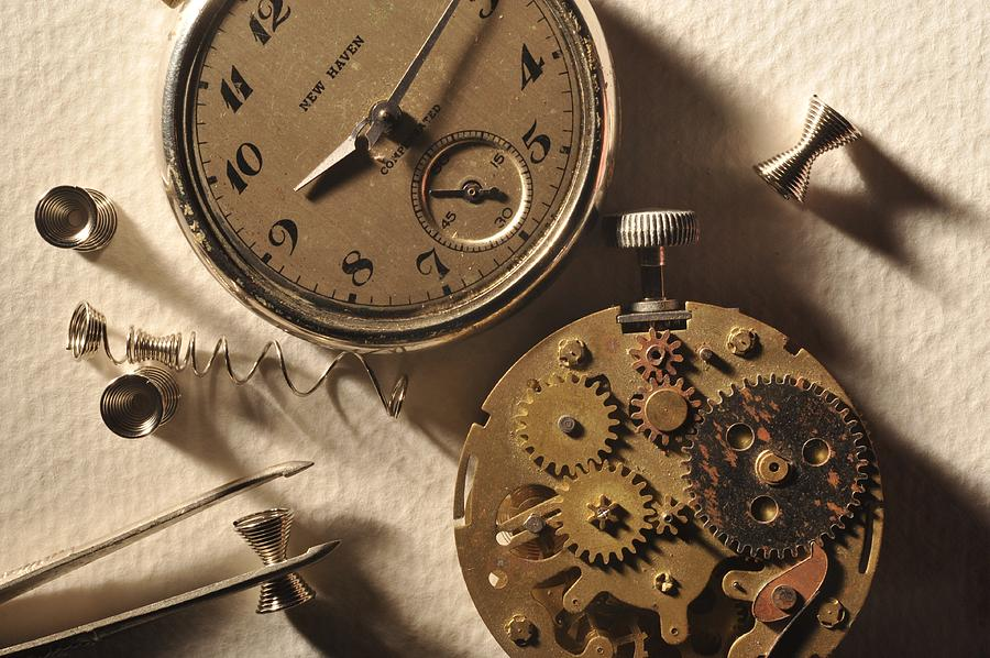 Watch Photograph - Pocket Watch Macro Number 1 by John B Poisson