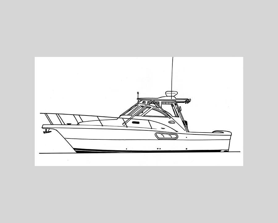 Yachts Drawing - Pocket Yacht Profile by Jack Pumphrey