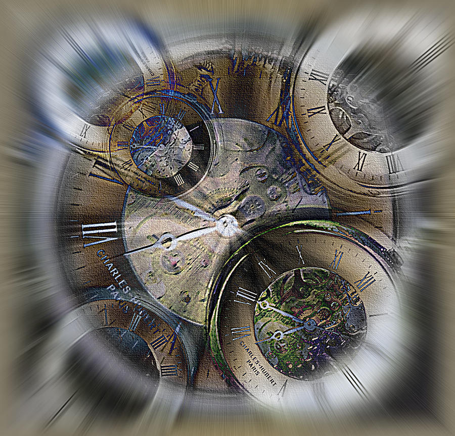 Watch Photograph - Pocketwatches 2 by Steve Ohlsen