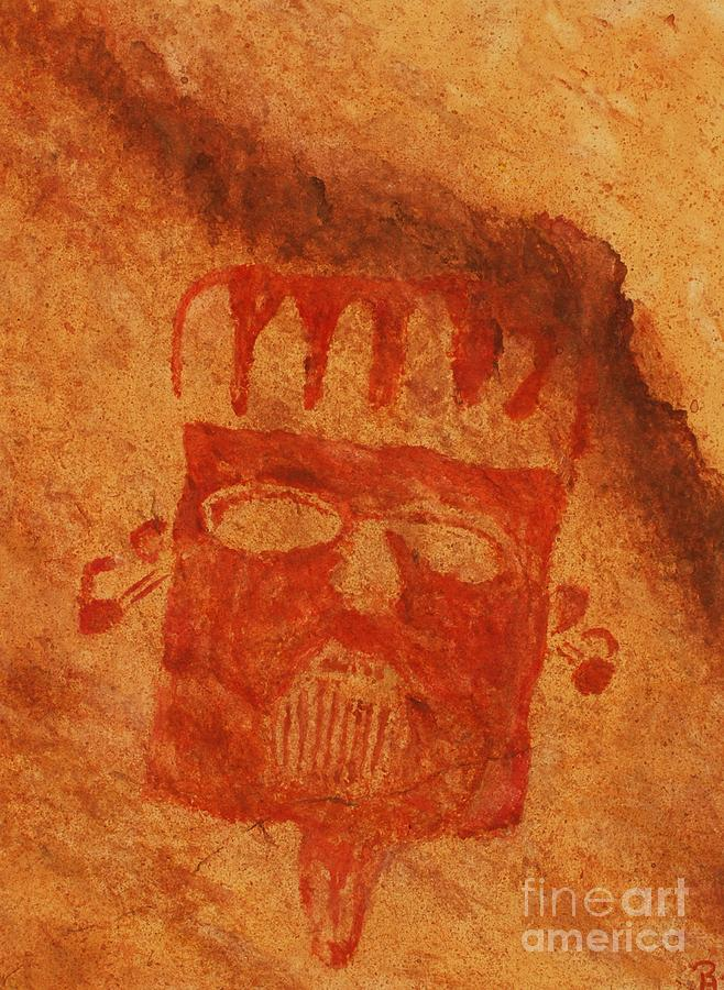 Hueco Tanks Pictographs Painting - Poco Kachina by GD Rankin