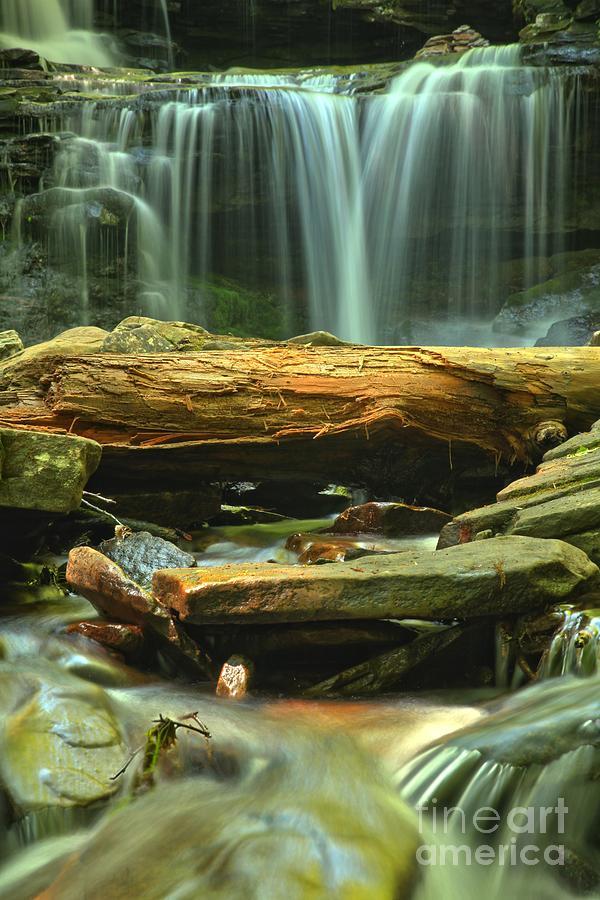 Ricketts Glen Photograph - Poconos Cascades by Adam Jewell