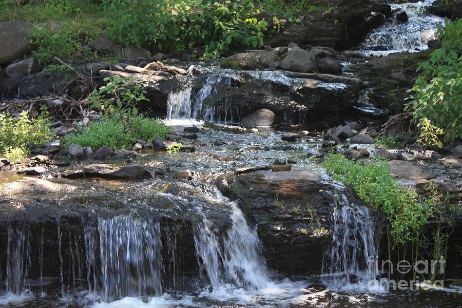 Poconos Waterfall Stream Photograph - Poconos Waterfall Stream by John Telfer