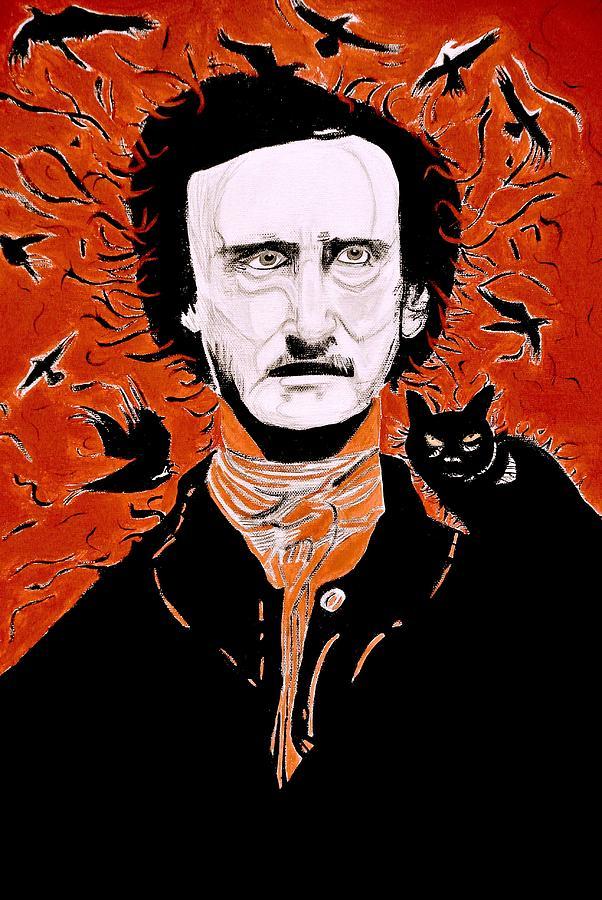 Poe Painting - Poe Poe by Tyler Schmeling