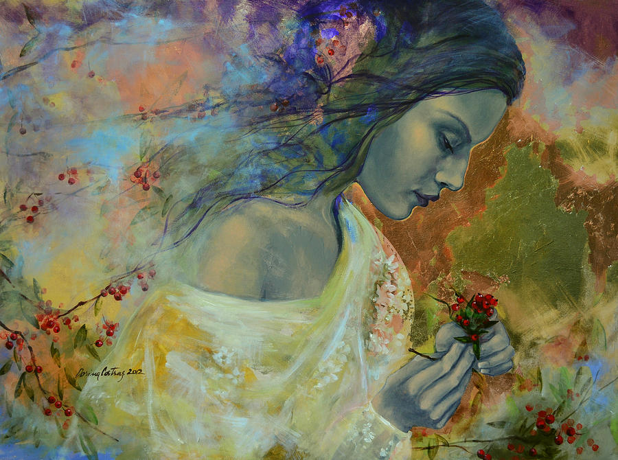 Love Painting - Poem At Twilight by Dorina  Costras