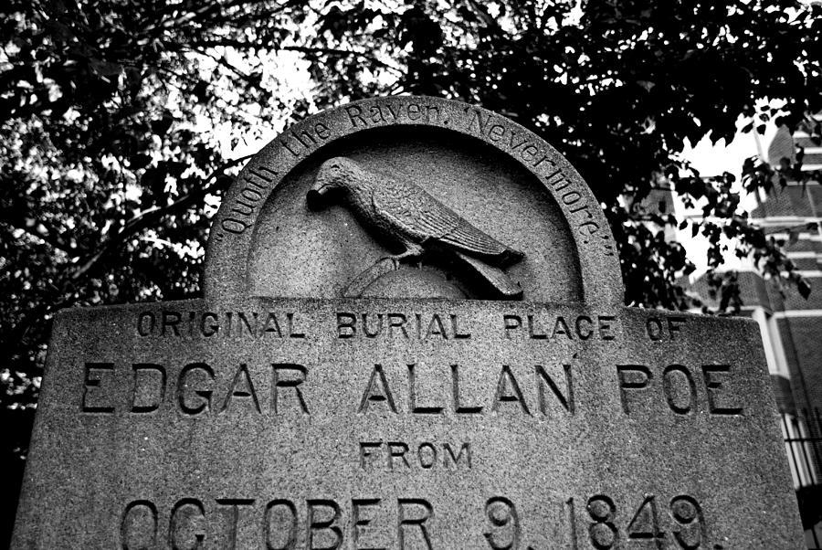 Edgar Allan Poe Photograph - Poes Original Burial Place by Jennifer Ancker