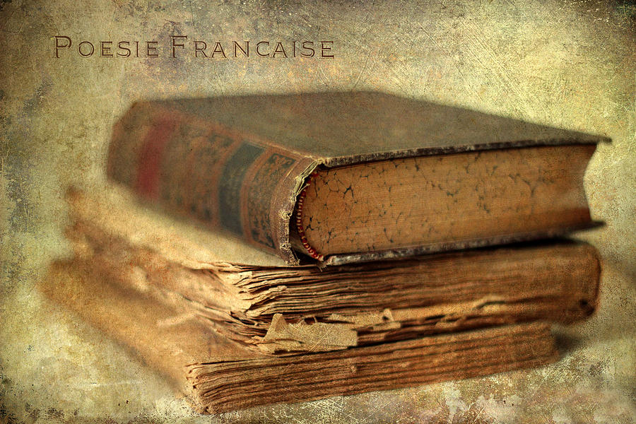 Books Photograph - Poesie Francaise by Jessica Jenney