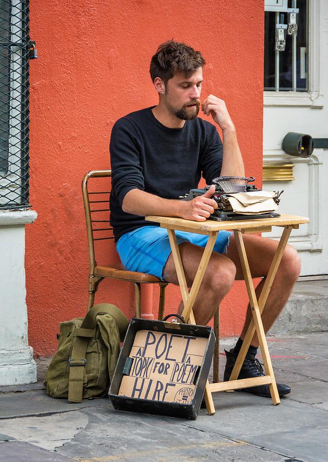 Antoine Photograph - Poet For Hire by Steve Harrington