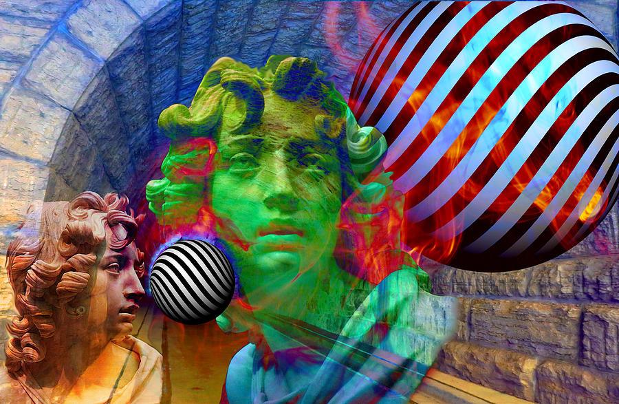 Poet Digital Art - Poet-prophet? by Vito Valenti