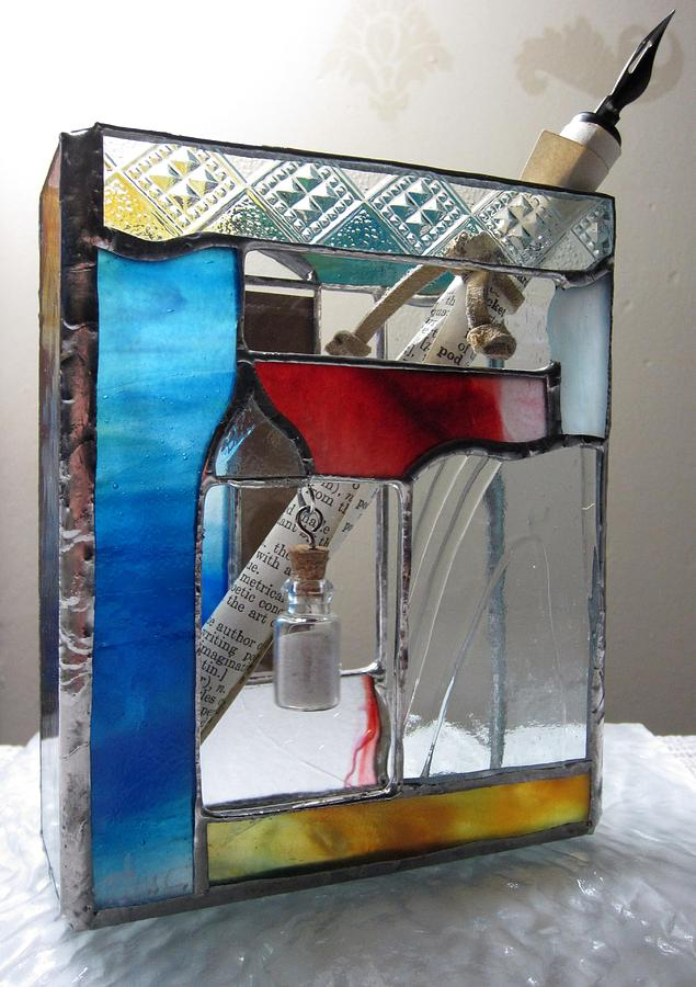 Poet Windowsill Box - Other View Painting by Karin Thue