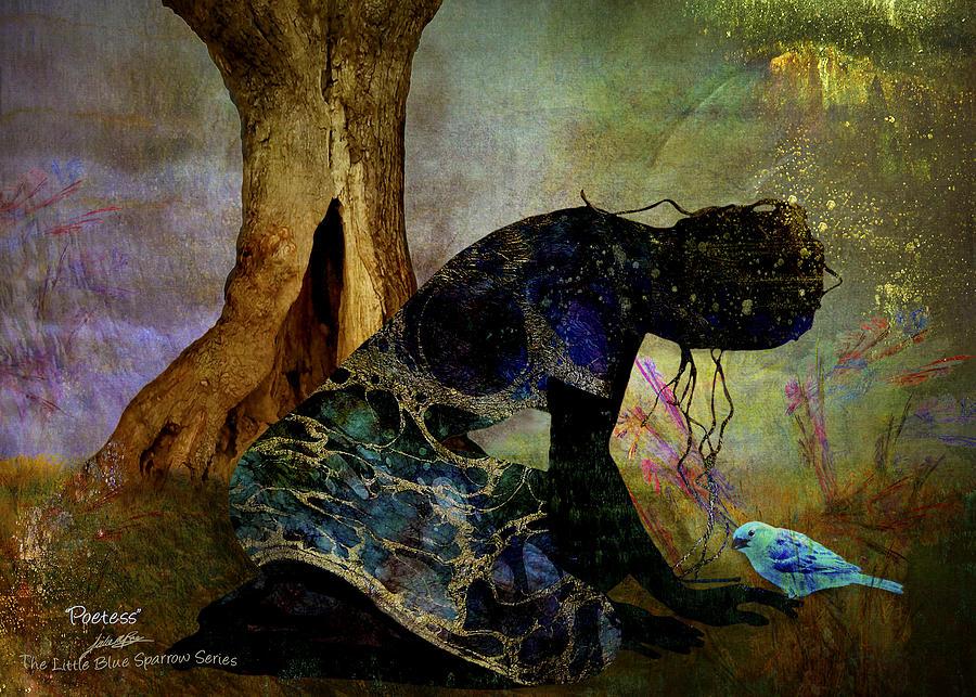 Love Digital Art - Poetess by Julie m Rae