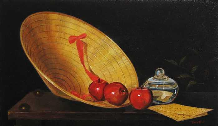 Apples Painting - Poetical Leaf by Robert Tracy