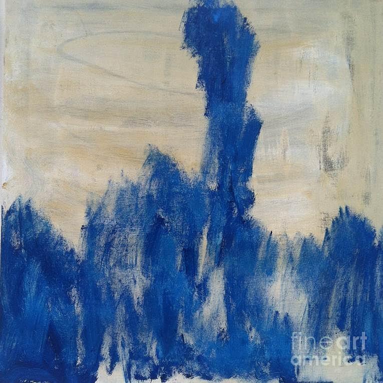 Freydoon Rassouli Painting - Poetry In Blue by Bebe Brookman