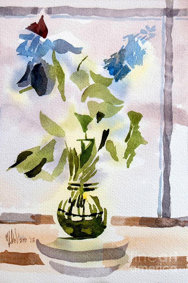 Watercolor Painting - Poetry In The Window by Kip DeVore