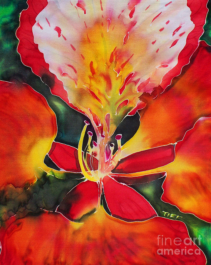 Flower Painting - Poinciana Royale by Tiff