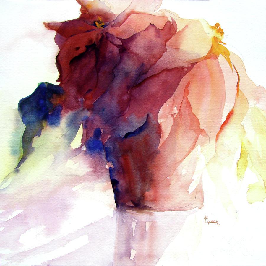 Poinsettia Painting - Poinsettia by Jo Lynch