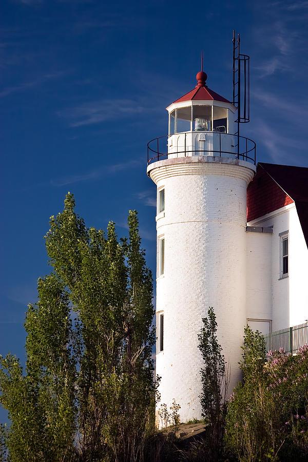 3scape Photograph - Point Betsie Lighthouse Michigan by Adam Romanowicz