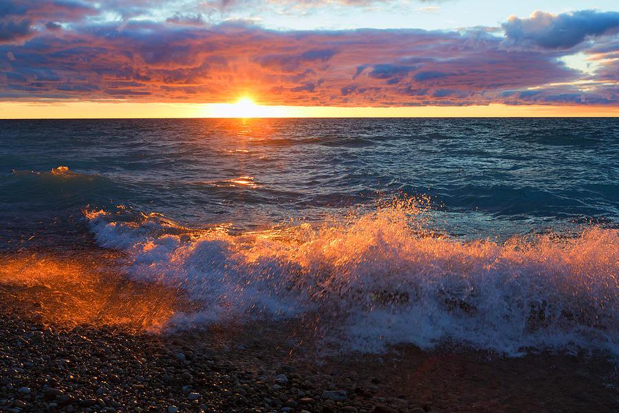 Point Betsie Photograph - Point Betsie Sunset by Craig Sterken