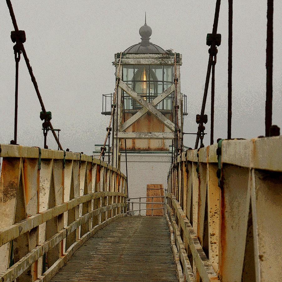 Point Bonita Lighthouse Photograph - Point Bonita Lighthouse by Art Block Collections