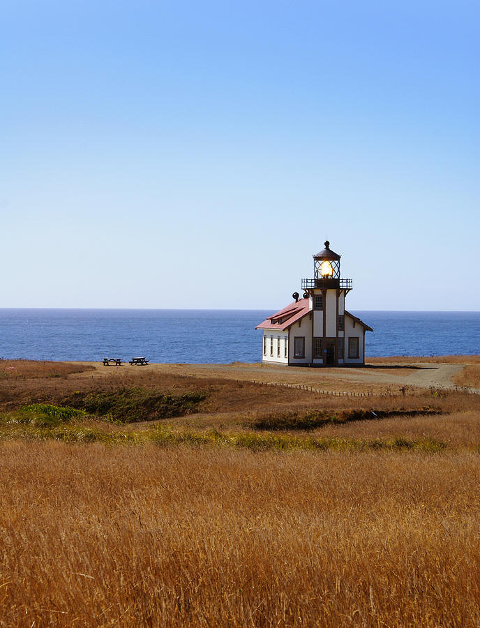 Lighthouse Photograph - Point Cabrillo Light House by Abram House