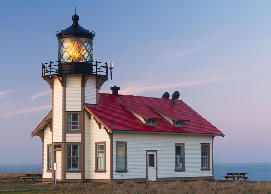California Coast Photograph - Point Cabrillo Lighthouse by Georgia Fowler