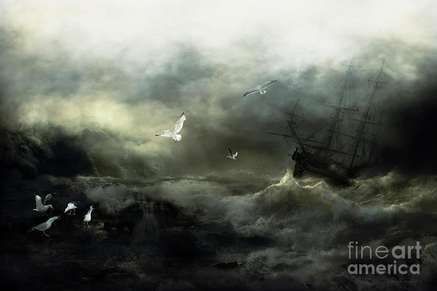 Sea Digital Art - Point Danger by Shanina Conway