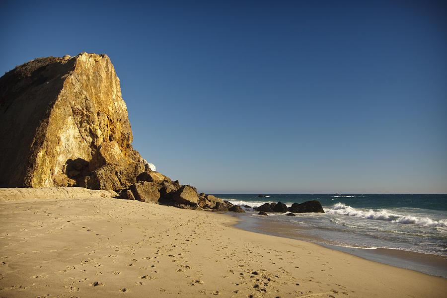 3scape Photos Photograph - Point Dume At Zuma Beach by Adam Romanowicz
