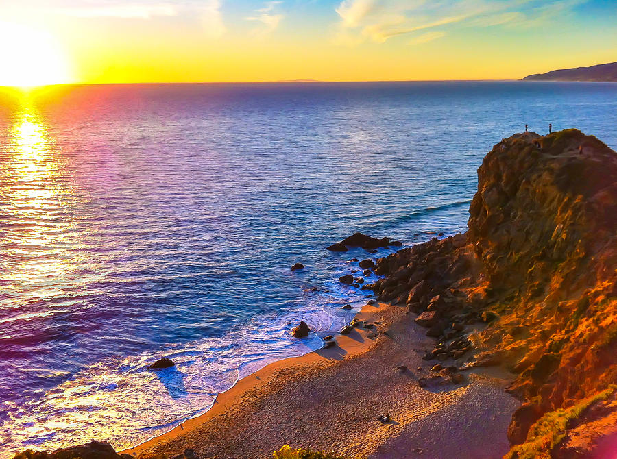 Sunset Photograph - Point Dume Sunset by Chad Kanera