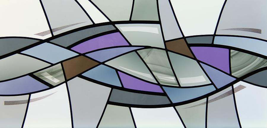 point grey abstract glass art by gilroy stained glass
